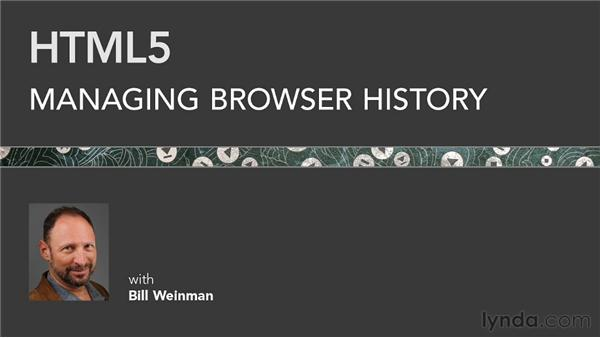 Goodbye: HTML5: Managing Browser History