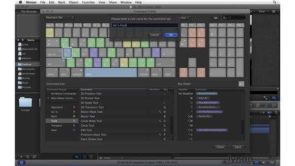 Customizing the keyboard: Motion 5 Essential Training