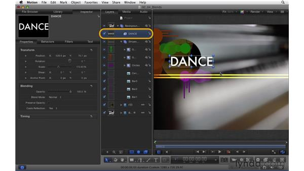 Understanding and using blend modes: Motion 5 Essential Training