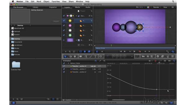 Manipulating keyframes with the Keyframe Editor: Motion 5 Essential Training