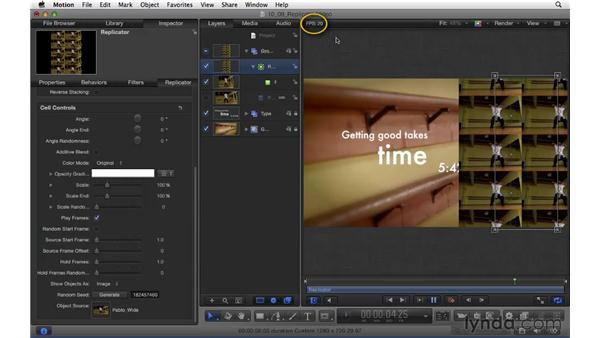 Replicating video: Motion 5 Essential Training