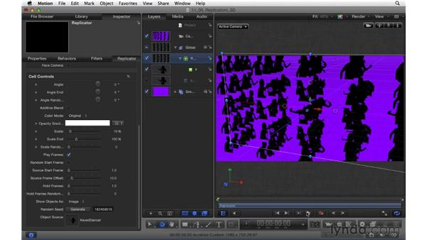 Creating replicators in 3D: Motion 5 Essential Training