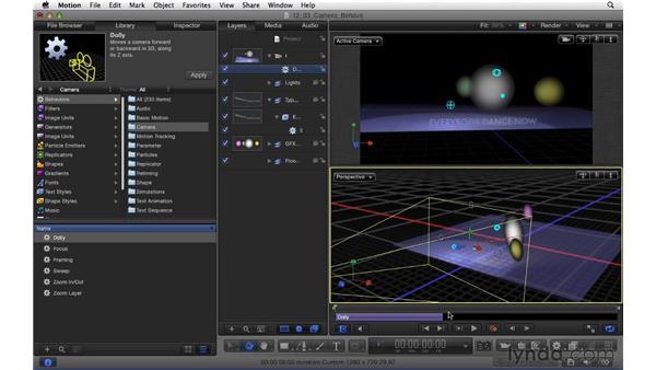 Using camera behaviors: Motion 5 Essential Training