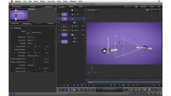 Animating cameras with camera framing: Motion 5 Essential Training