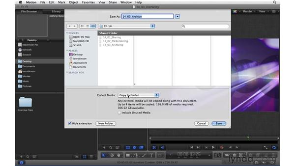 Archiving a project: Motion 5 Essential Training