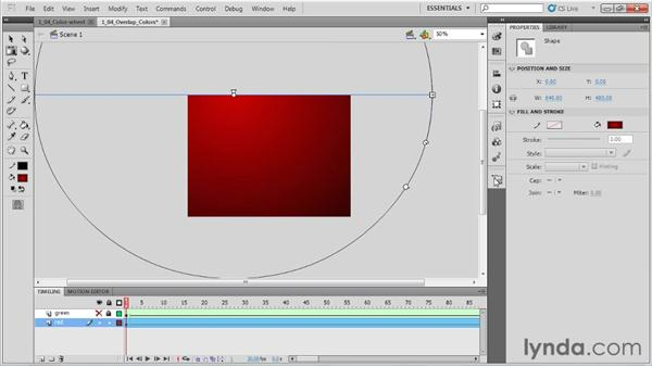 Overlapping and animating the colors: Animation Tips and Tricks with Flash Professional