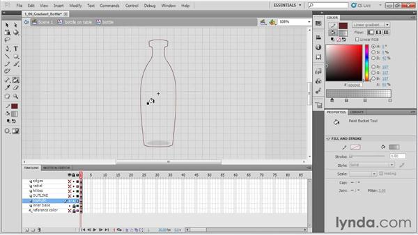 Creating a gradient bottle: Animation Tips and Tricks with Flash Professional