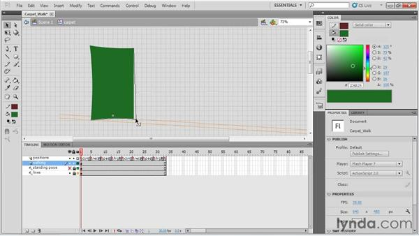 Setting up a magic carpet walk cycle: Animation Tips and Tricks with Flash Professional