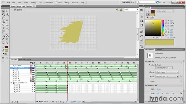 Intro to overlapping hair: Animation Tips and Tricks with Flash Professional