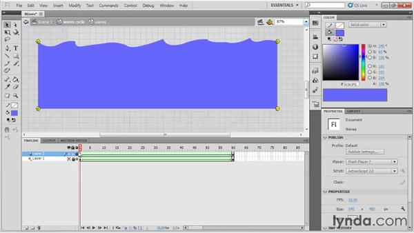 Animating waves: Animation Tips and Tricks with Flash Professional