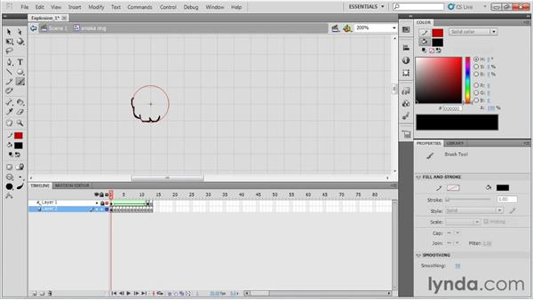 Animating an explosion: Animation Tips and Tricks with Flash Professional