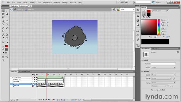 Adding in-betweens to the explosion: Animation Tips and Tricks with Flash Professional