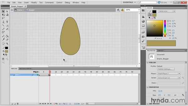 Animating a simple stagger: Animation Tips and Tricks with Flash Professional