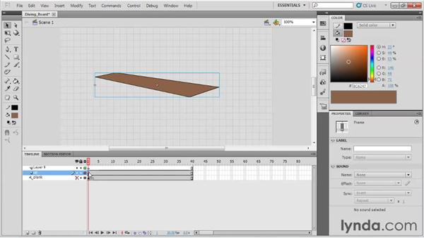 Animating a diving board: Animation Tips and Tricks with Flash Professional