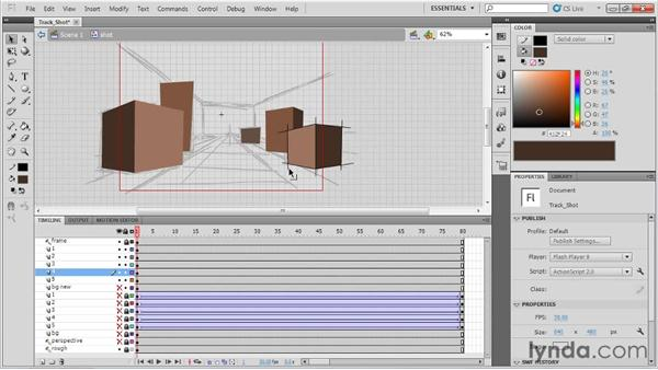 Animating a track shot: Animation Tips and Tricks with Flash Professional
