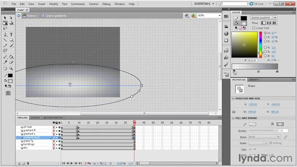 Animating a fadeout: Animation Tips and Tricks with Flash Professional