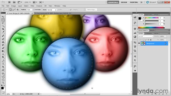 Understanding selections and layers: Up and Running with Photoshop for Design