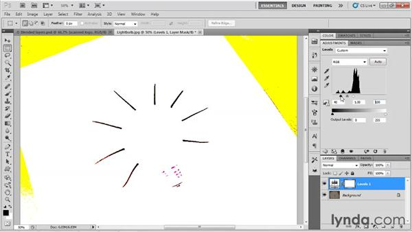 Working with adjustment layers: Up and Running with Photoshop for Design