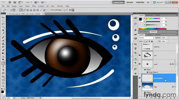 Using the Pen tool: Up and Running with Photoshop for Design