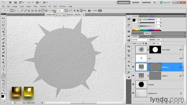 Drawing vector shapes: Up and Running with Photoshop for Design