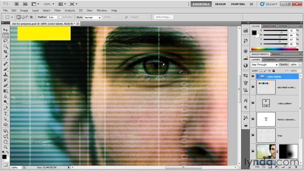 Preparing your image for print: Up and Running with Photoshop for Design