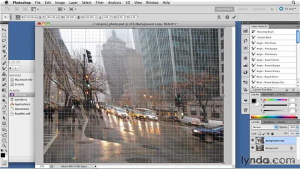 Using the Free Transform tool: Digital Painting: Street Scene