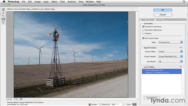 Using the Lens Correction filter: Digital Painting: Street Scene