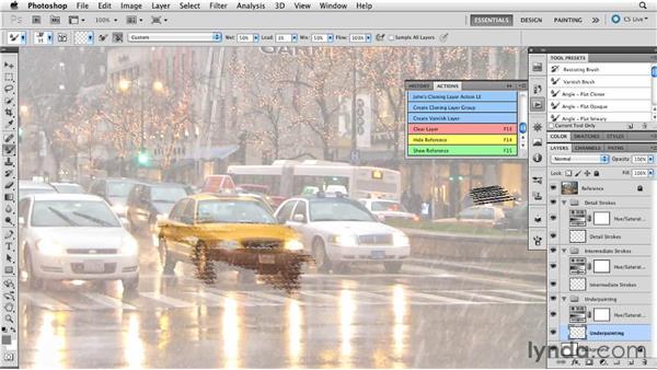 Using custom actions: Digital Painting: Street Scene