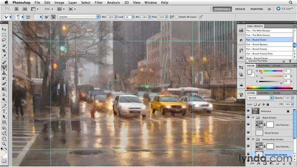 Simplified indication: Digital Painting: Street Scene