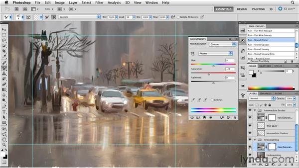 Understanding color: Digital Painting: Street Scene