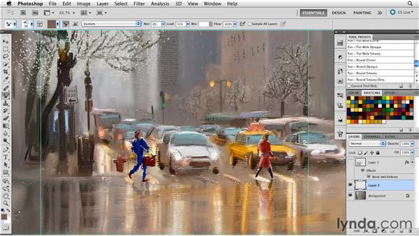 Waiting a day: Digital Painting: Street Scene
