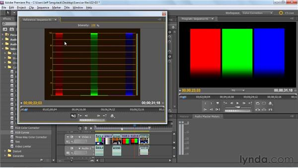 Using the RGB Parade scope: Premiere Pro: Color Correction and Enhancement