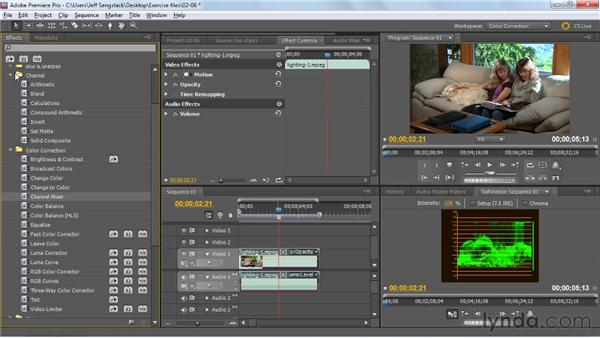 Previewing color correction effects: Premiere Pro: Color Correction and Enhancement