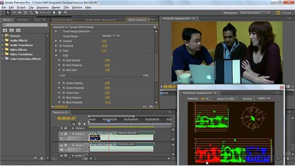 Adjusting color channels using RGB Color Corrector and RGB Curves effects: Premiere Pro: Color Correction and Enhancement