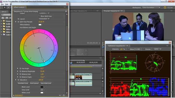 Getting a grip on the color wheel: Premiere Pro: Color Correction and Enhancement