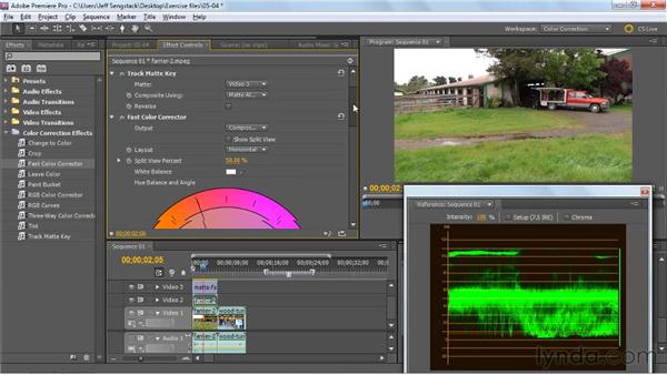 Using the Track Matte Key effect: Premiere Pro: Color Correction and Enhancement