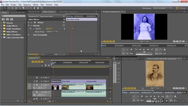 Tinting clips: Premiere Pro: Color Correction and Enhancement