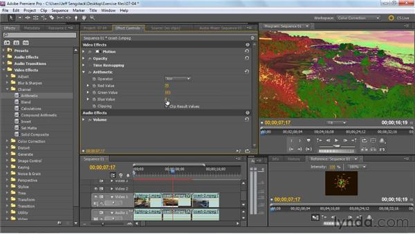 Checking out three cross process effects: Premiere Pro: Color Correction and Enhancement