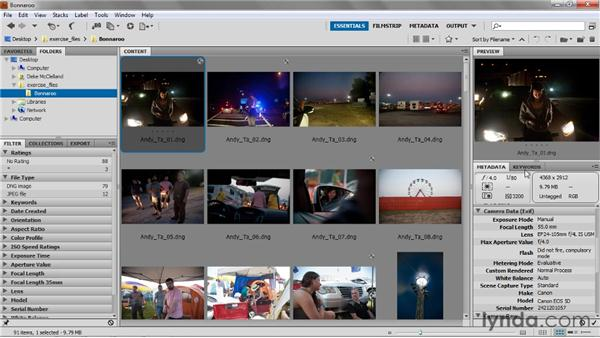 Adding copyright and metadata: Up and Running with Photoshop for Photography
