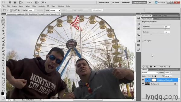 Using adjustment layers: Up and Running with Photoshop for Photography