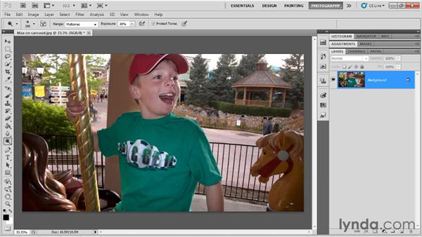 Dodging and burning details: Up and Running with Photoshop for Photography