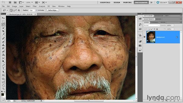 Healing blemishes: Up and Running with Photoshop for Photography