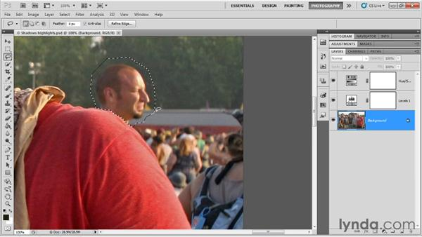Covering up unwanted details: Up and Running with Photoshop for Photography