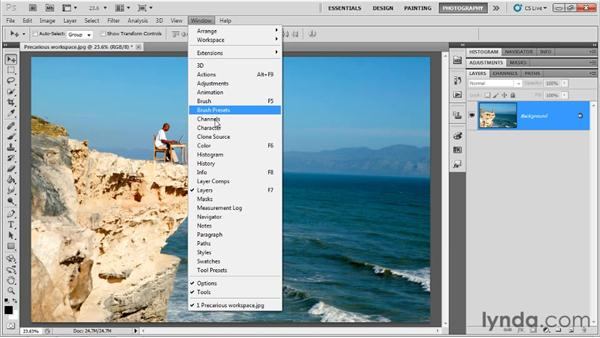Cropping: Up and Running with Photoshop for Photography