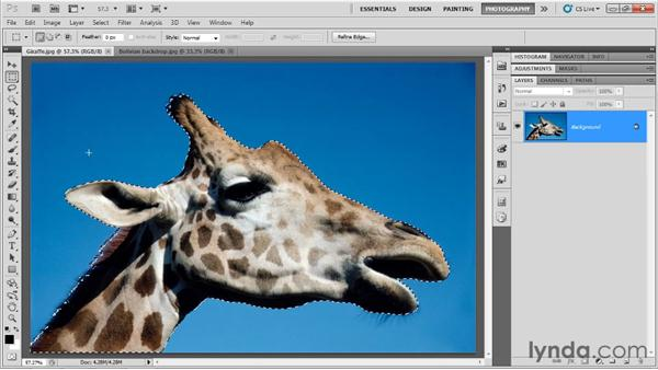 Selecting portions of an image: Up and Running with Photoshop for Photography