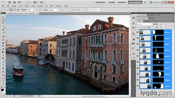 Making a panorama: Up and Running with Photoshop for Photography