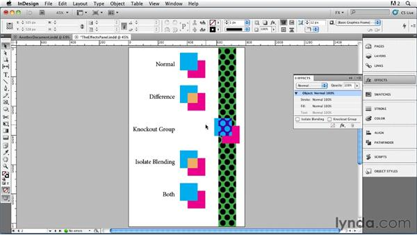 003 Exploring the Effects Panel: InDesign FX