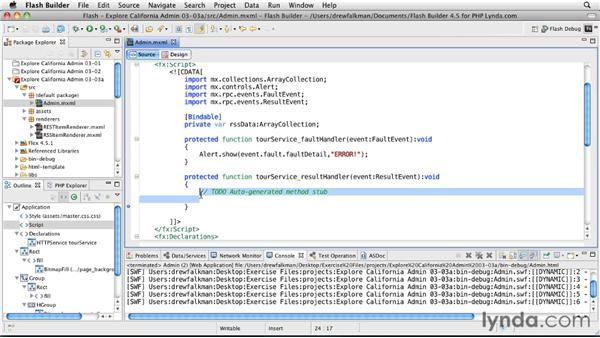 Accessing RESTful services : Flex 4.5 and PHP: Creating Data-Driven Applications