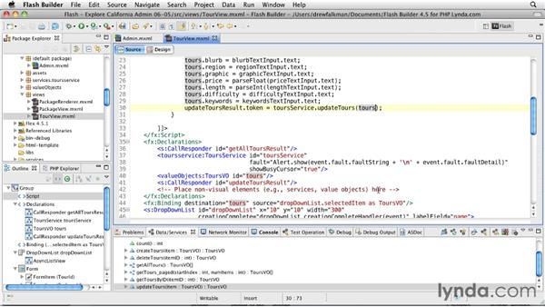 Using data management: Flex 4.5 and PHP: Creating Data-Driven Applications