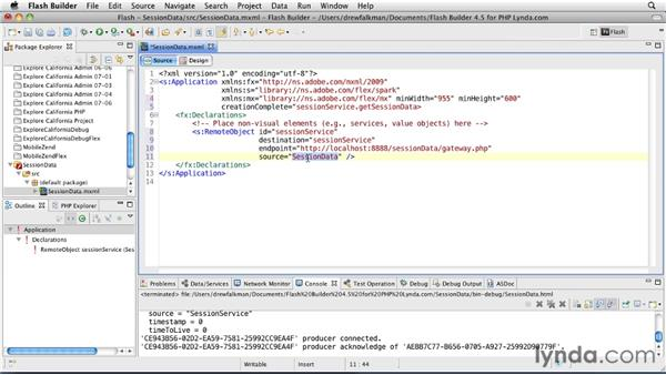 Using server-side session data: Flex 4.5 and PHP: Creating Data-Driven Applications